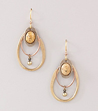 Silver Forest® Brown Jasper Hoop Earrings