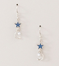 Silver Forest® Blue Moon and Stars Earrings