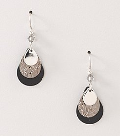 Silver Forest® Black Layered Earrings