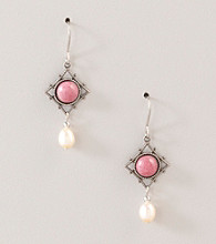 Silver Forest® Pink and Pearl Earrings