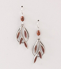 Silver Forest® Silvertone Branch Earrings