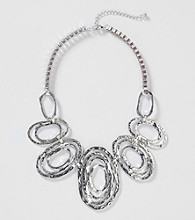 Erica Lyons® Silver Reflections Short Frontal Necklace
