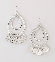 Erica Lyons® Silver Reflections Drop Pierced Earrings