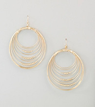 Guess Goldtone Orbital Earrings