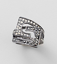Guess Jet Belt Buckle Ring