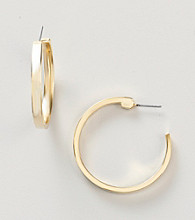 Guess Goldtone Small Hoop Earrings