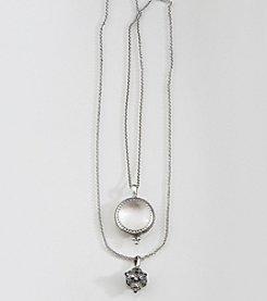 Lucky Brand® Silvertone Charm Pendant