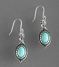 Lucky Brand® Turquoise Blue Turquoise Drop Earrings