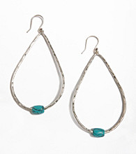 Lucky Brand® Turquoise Blue Hoop Earrings