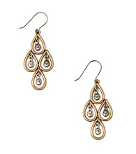 Lucky Brand® Two Tone Teardrop Chandelier Earrings