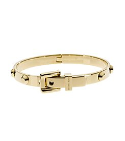 Michael Kors® Goldtone Astor Stud Buckle Hinge Bangle