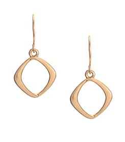 Kenneth Cole® Goldtone Small Square Drop Earrings