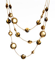 Kenneth Cole® Goldtone Faceted Bead and Round Disc Illusion Necklace
