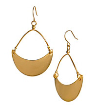 Kenneth Cole® Half Moon Chandelier Earrings