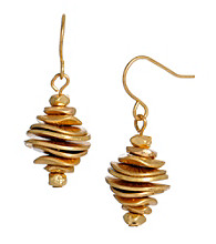 Kenneth Cole® Goldtone Stacked Disc Drop Earrings