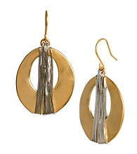 Kenneth Cole® Goldtone Wire Wrapped Oval Drop Earrings