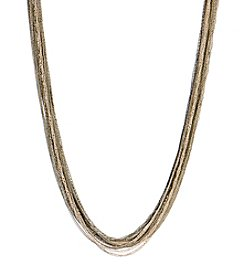 Kenneth Cole® Long Mixed Metal Chain Necklace