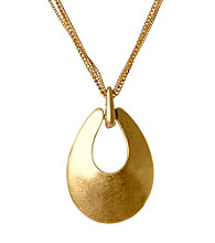 Kenneth Cole® Goldtone Sculptural Pendant Necklace