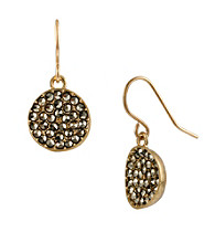 Kenneth Cole® Goldtone Pave Circle Drop Earrings