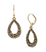 Kenneth Cole® Goldtone Pave Oval Drop Earrings