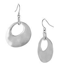 Kenneth Cole® Silvertone Organic Drop Earrings