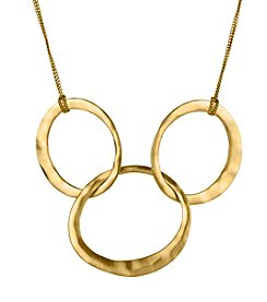 Kenneth Cole® Goldtone Three Circle Link Frontal Necklace