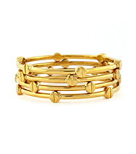 Vince Camuto™ Goldtone Nail Head Bangle Set
