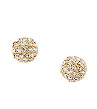 Fossil® Pave Fire Ball with Clear Glitz Stud Earrings