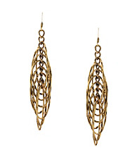 BCBGeneration™ Goldtone Layered Oval Linear Drop Earrings
