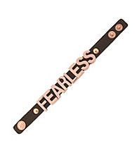 BCBGeneration™ Rose Goldtone and Gunmetal Fearless Affirmation Bracelet