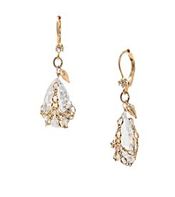 Betsey Johnson® Crystal Briolette Crystal Drop Earrings