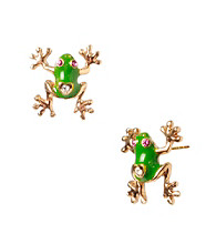 Betsey Johnson® Green Frog Stud Earrings
