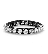 Betsey Johnson® Black Crystal Bangle Bracelet