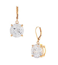 Betsey Johnson® Large Crystal Drop Earrings