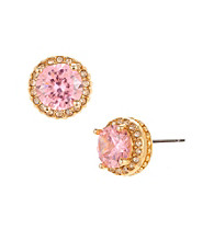 Betsey Johnson® Pink Crystal Pink Stud Earrings