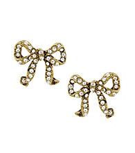 Betsey Johnson® Crystal Bow Stud Earrings