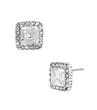 Betsy Johnson® Square Crystal Stud Earrings