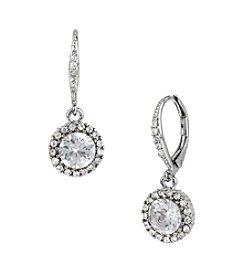 Betsey Johnson® Pave Crystal Drop Earrings