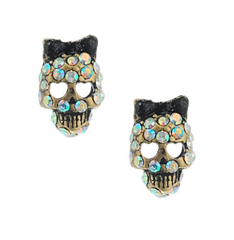 Betsey Johnson® Skull Stud Earrings