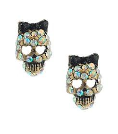 Betsey Johnson® Skull Stud Earrings