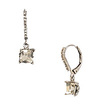 Betsey Johnson® Square Crystal Drop Earrings