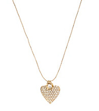 Betsey Johnson® Crystal Heart Pendant Necklace