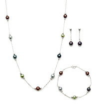 .925 Fresh Water Pearl Multi Color Set