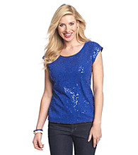 Relativity® Scatter Sequin Tee