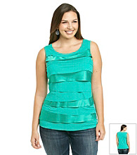 Realtivtiy® Career Plus Size Horizontal Tiers Tank