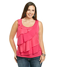 Relativity® Career Plus Size Floating Tiers Tank