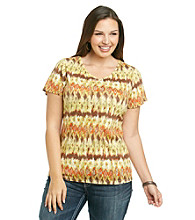 Relativity® Plus Size Vneck Tee
