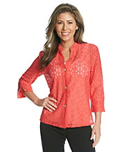 Ruby Rd.® Floral Lace Blouse