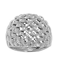 Aluminum Basketweave Ring