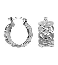 Aluminum Woven Hoop Earrings